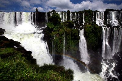 Cataratas del Iguazu (Iguazu Falls), one of the seven natural wonders of the world