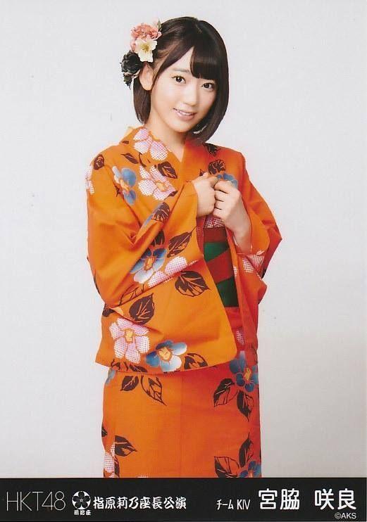"Sakura Miyawaki of HKT48. Could you ""orange"" for us to see more of this kimono shoot, Sakura-tan?"