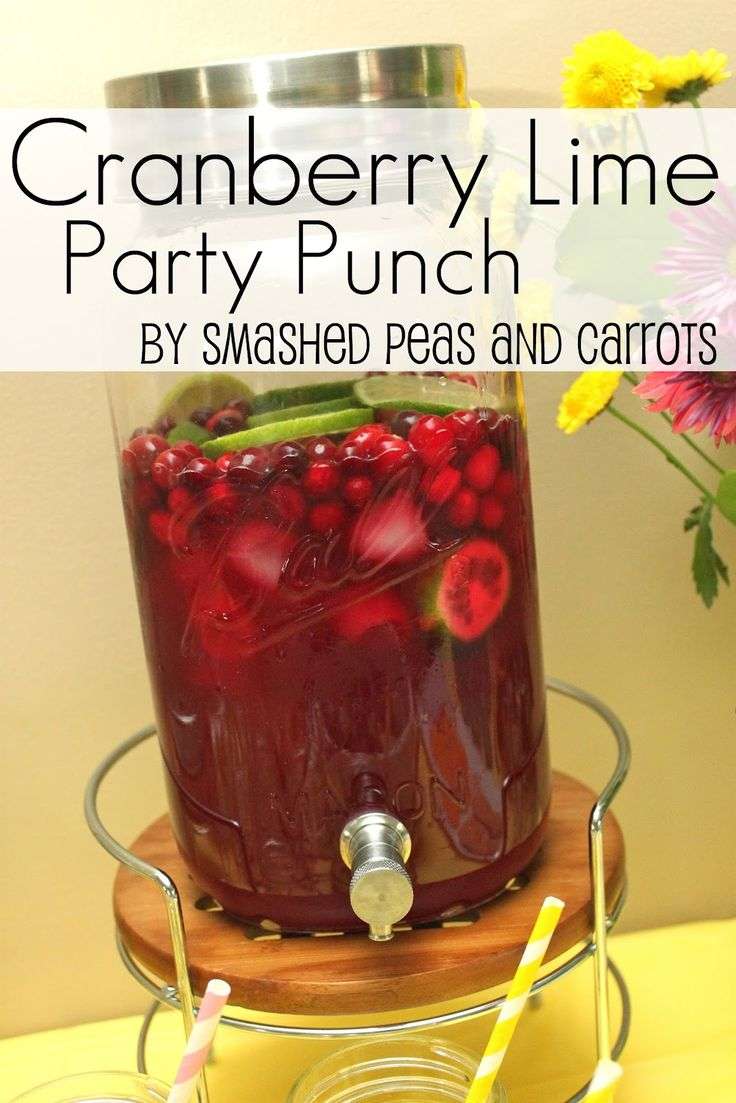 Cranberry Lime Party Punch RECIPE