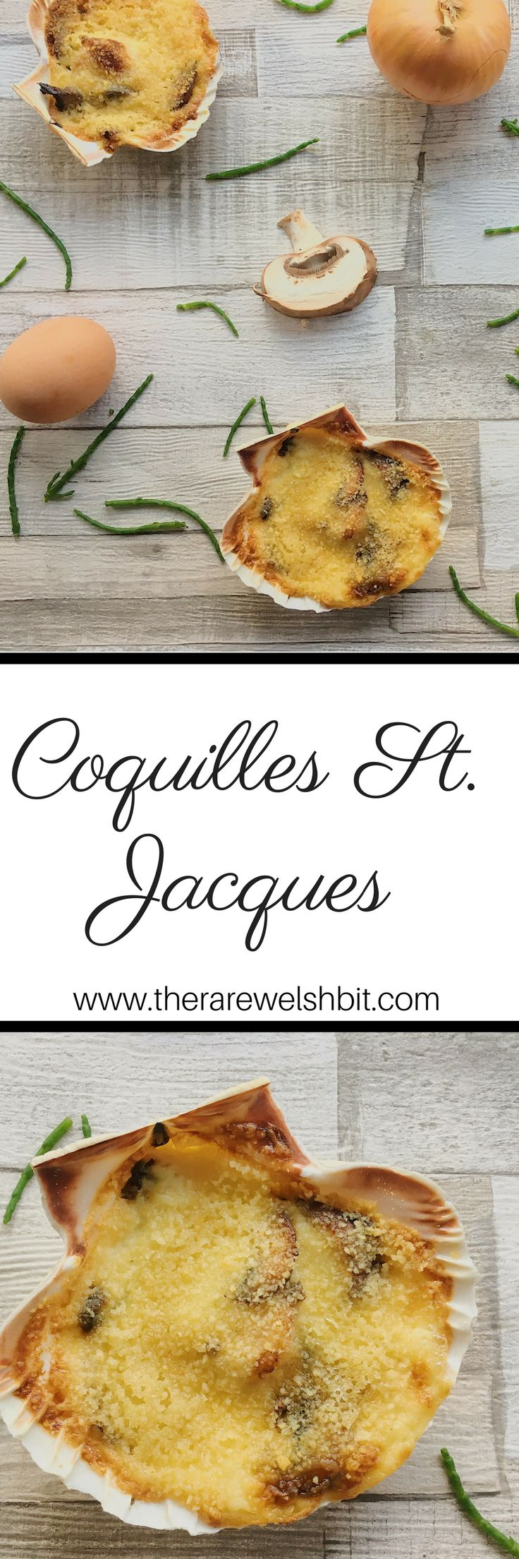 Perhaps one of the most indulgent of all French scallop recipes, Coquilles St. Jacques recipe consists of scallops in a rich, creamy white wine and mushroom sauce, topped with breadcrumbs and baked until golden. #scallops #coquillesstjacques #frenchscallops #scallopsrecipe #seafood #shellfish #f52grams #foodblogger #recipedevelopment #frenchrecipes