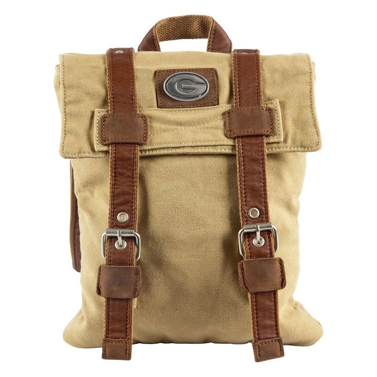 Whether you need to tote your camera or laptop, this versatile canvas bag fits the bill.  Interior compartment is fully lined and padded with water resistant fabric to protect your device.  The fold over flap with leather accents give the bag a fabulous safari style. FEATURES  16 oz. Cotton Canvas Full Grain, Buffed Cowhide Accents Fully Padded and Lined Interior Canvas Handle Removable Ergonomic Shoulder Strap Limited Lifetime Warranty Made to Order Product Officially Licensed  SPECS  Made…