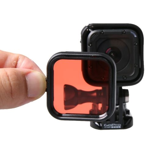 Standard Housing Scuba Accessory Diving Filter for GoPro HERO4 Session(Red)