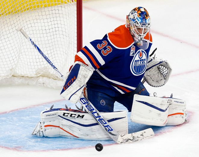 Expectant father of twins and Oilers goaltender Cam Talbot forecasts 'significant rise' in wins this season