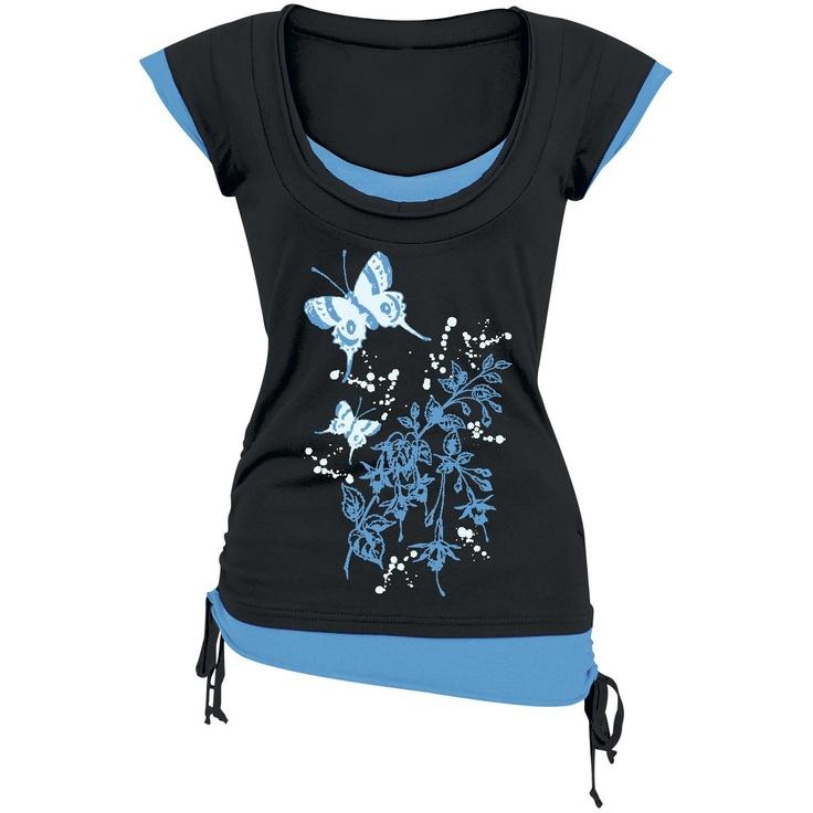Kukkaisperhonen paita L