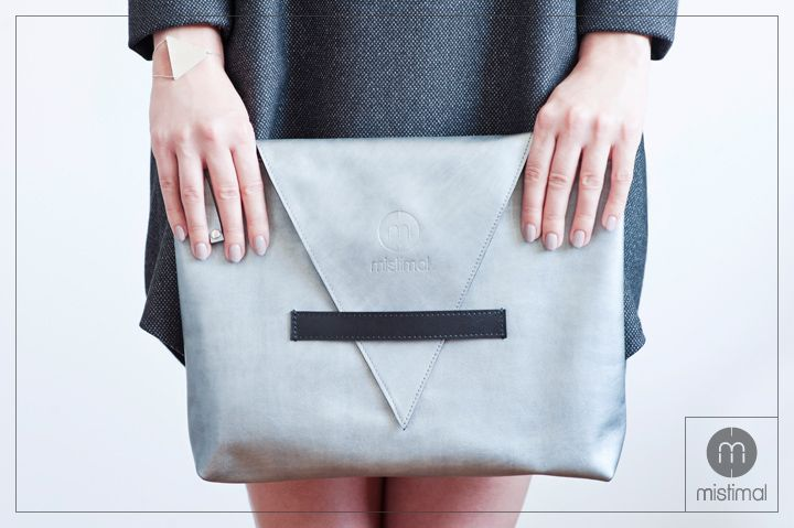 Silver Leather Bag by mistimal