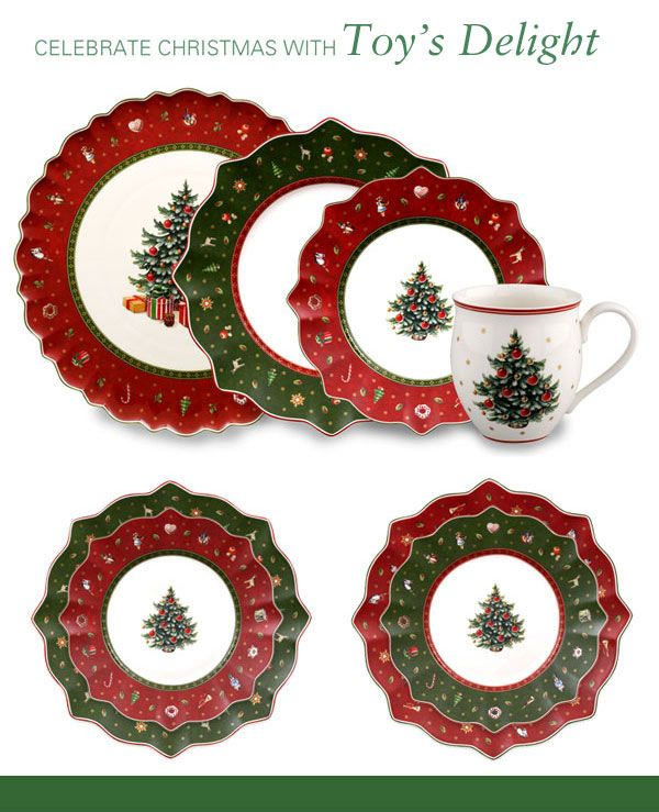 Toy's Delight christmas pattern. A little too pricy to get 8 place settings, but so beautiful!