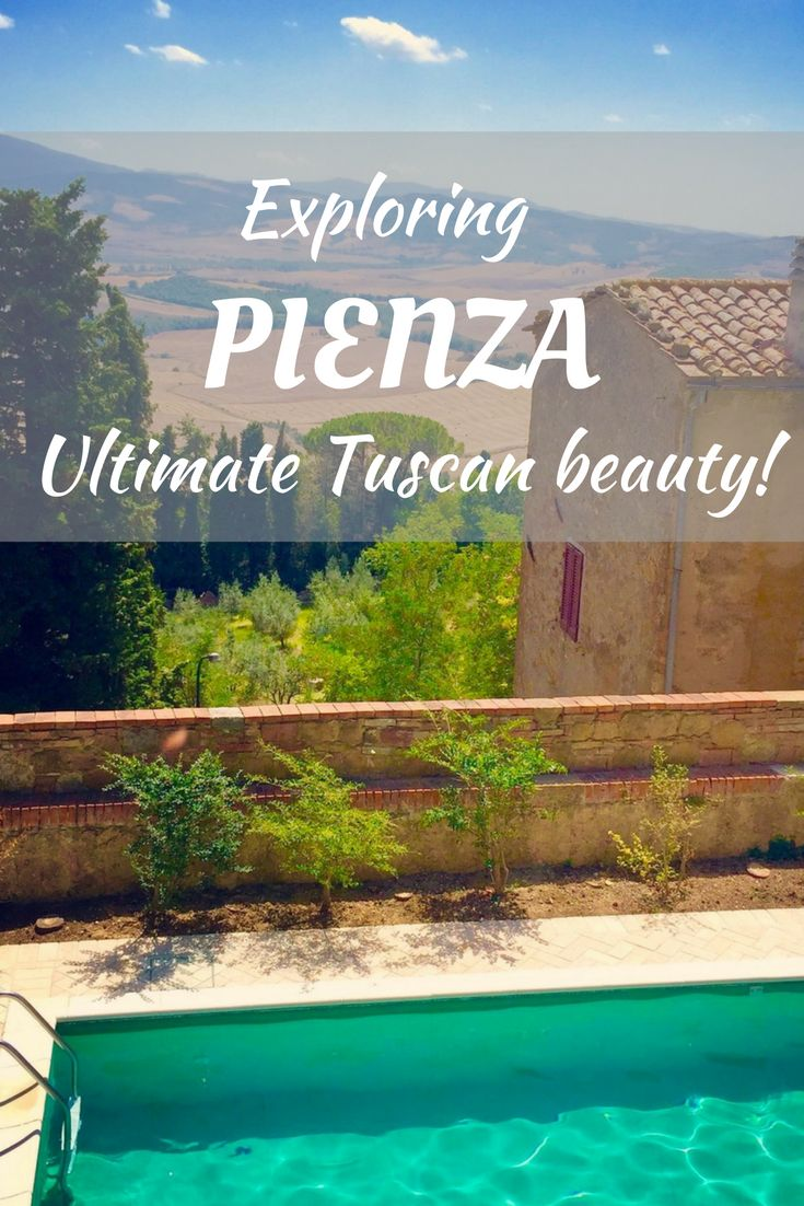 The town of Pienza in Tuscany is one of the most beautiful Italian towns, perched on the hillside and overlooking the countryside. A must visit for travel to Tuscany! Fun to bring the kids to as well.