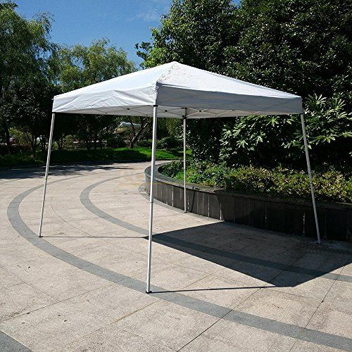 FCH 8x8Pop Up Canopy Tent Gazebo for Outdoor Patio Party Wedding campingWHITE -- Click image for more details.
