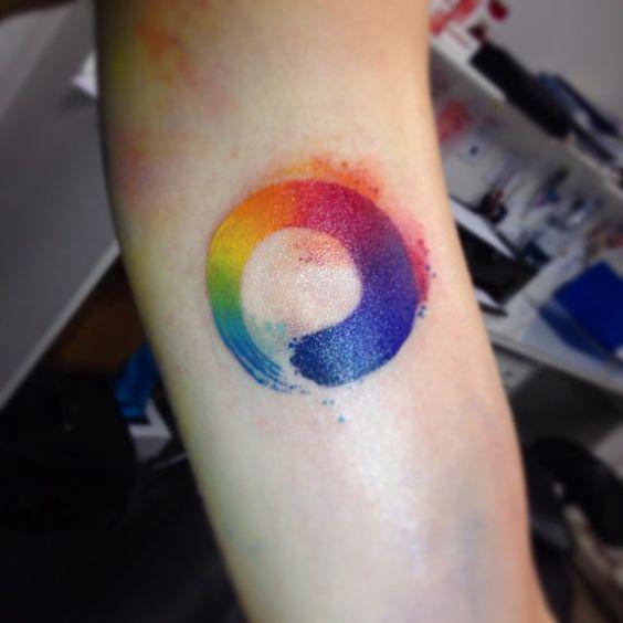 Tattoo ideas for women: Rainbow tattoo designs