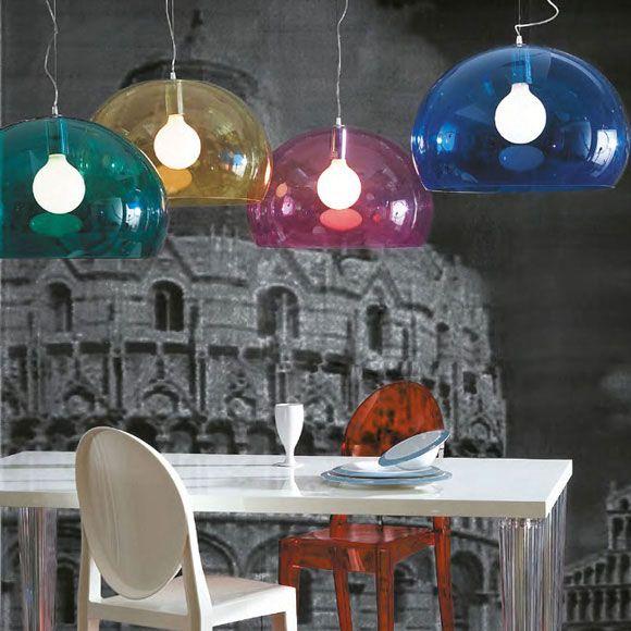 FL/Y Lamp, Dark blue - Ferruccio Laviani - Kartell - RoyalDesign.com #design #royaldesign #decor #interiordesign #inredning #homedecor #heminredning #designlight #lighting #kartell #fly