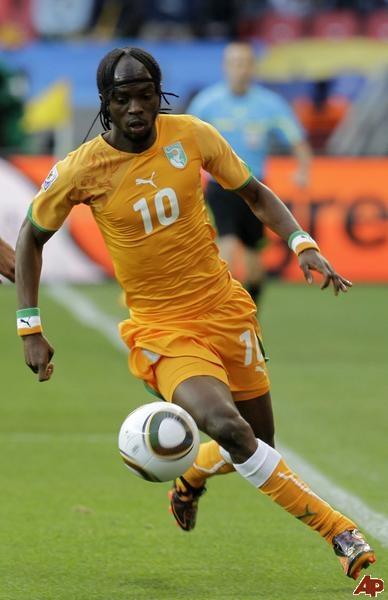 Ivory Coast's Gervinho. Club team: Arsenal FC in England.