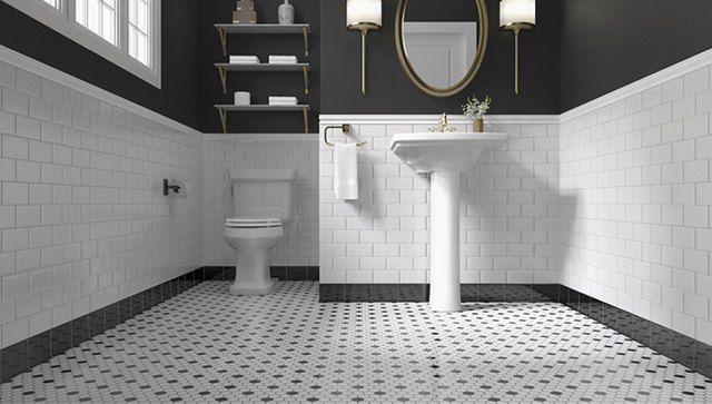 Image Result For Gloss Black Ceramic Cove Base Tile Bathroom
