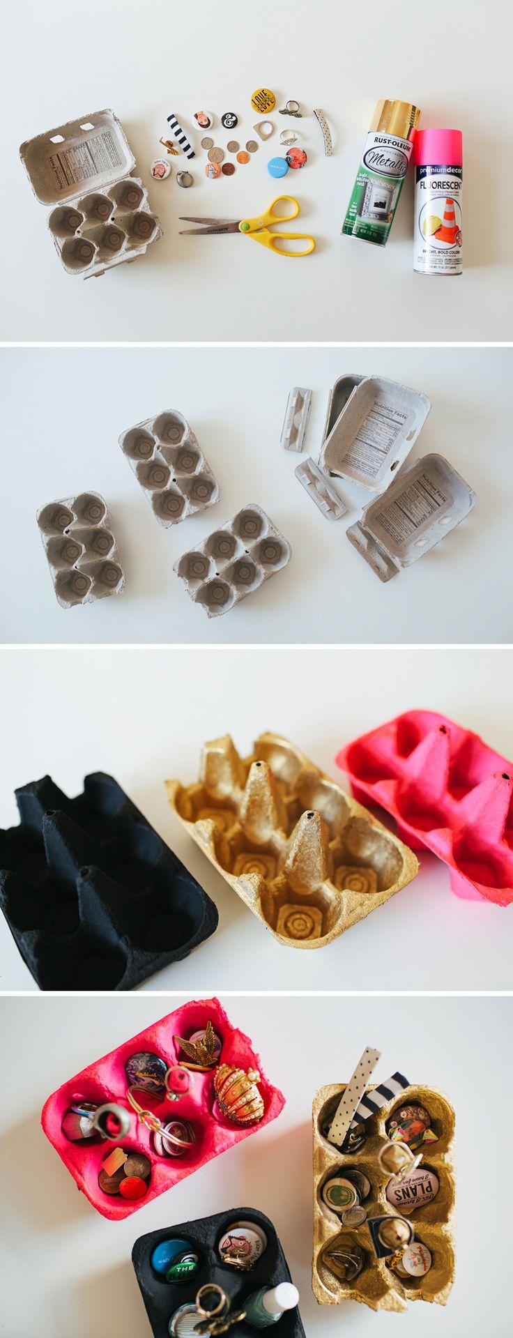 DIY Egg Carton Organizer // DIY Organization // walk in love.