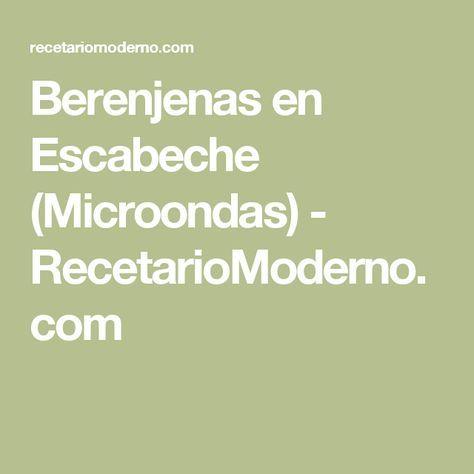 Berenjenas en Escabeche (Microondas) - RecetarioModerno.com