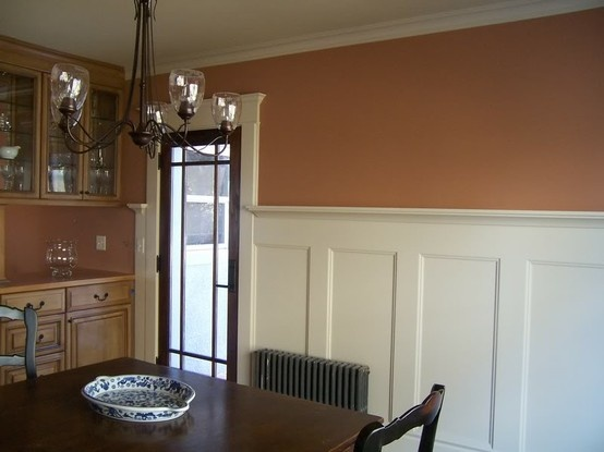 Wainscot home ideas pinterest for Dining room examples