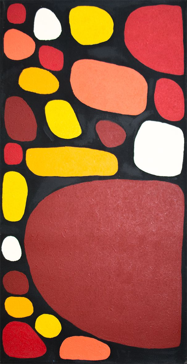 Keturah Nangala Zimran Titre de l'œuvre : Puli Puli - stones Format : 90 x 50 cm #aboriginalart #artaborigene #ikuntji #artcontemporain #Bruxelles
