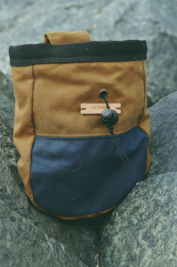Wax Cotton Canvas Chalk Bag, Fernweh UK, Fernweh chalk bag, chalk pot…