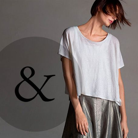 AT EILEEN FISHER, AMPERSAND MEANS THERE'S MORE TO THE STORY