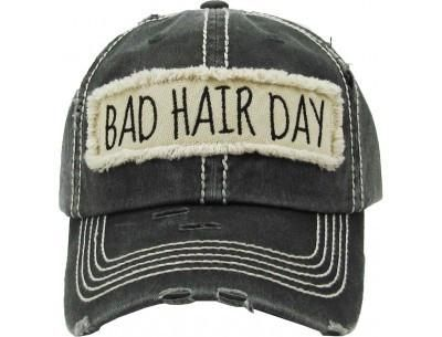 Bad Hair Day Washed Vintage Baseball Cap - Available in 3 colors