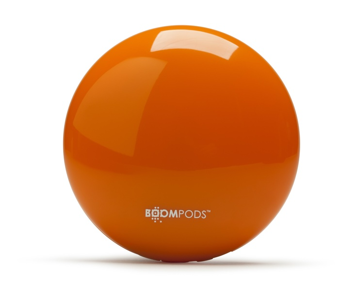 Downdraft-Orange-Shinny Bluetooth Speaker - BOOMPODS Speakers - Boston & Boston by BRAND