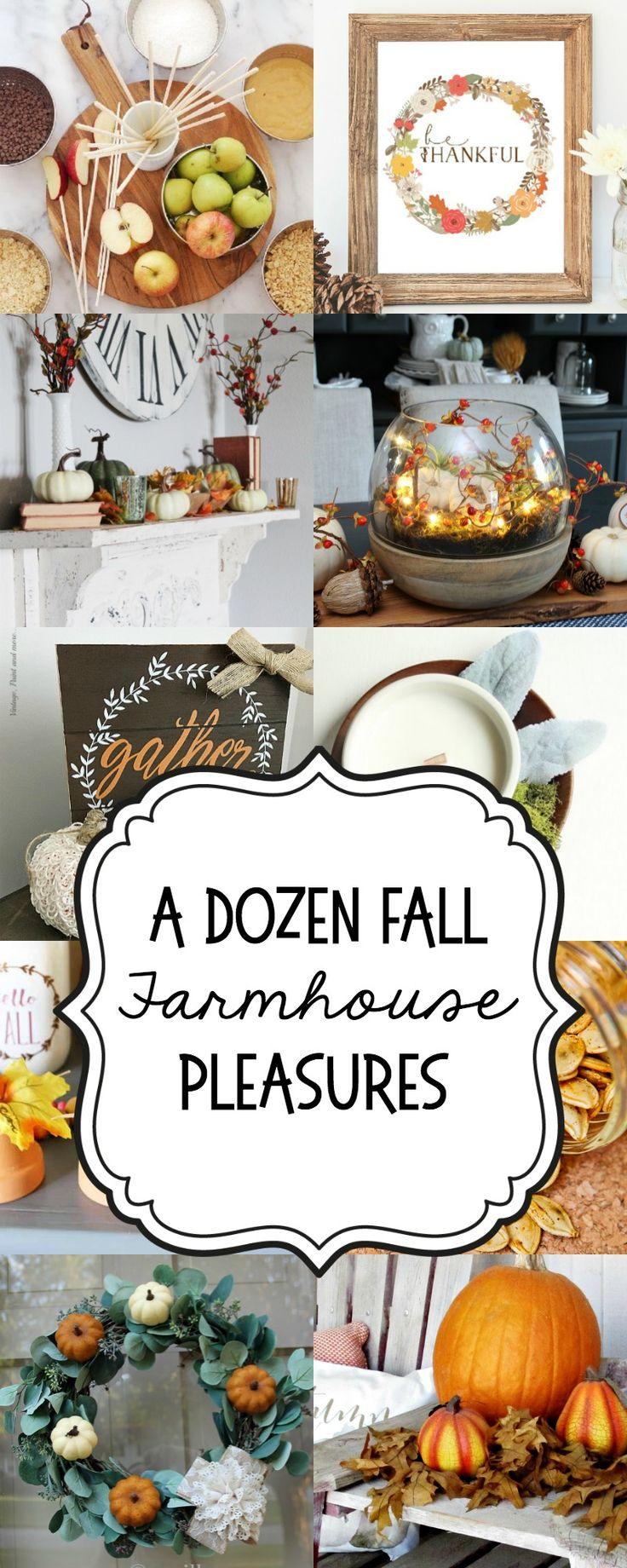A Dozen Fall Farmhouse Pleasures to DIY and cook for autumn! fall | autumn | modern farmhouse | decor | rustic