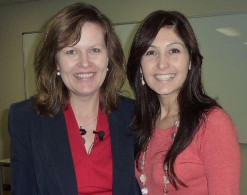 Sue Papadoulos and Katrina Kavvalos