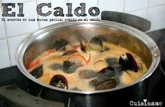 Cómo hacer un buen caldo para una gran paella marinera. Recetas de Cocina.