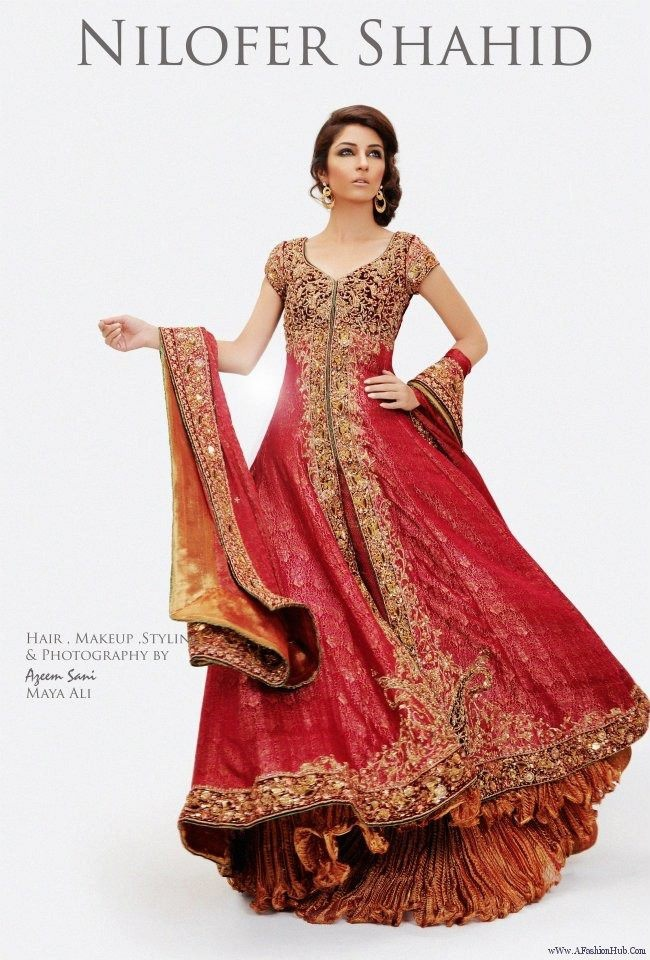 Pakistani/Indian Wedding Dress Check out more desings at: http://www.mehndiequalshenna.com/