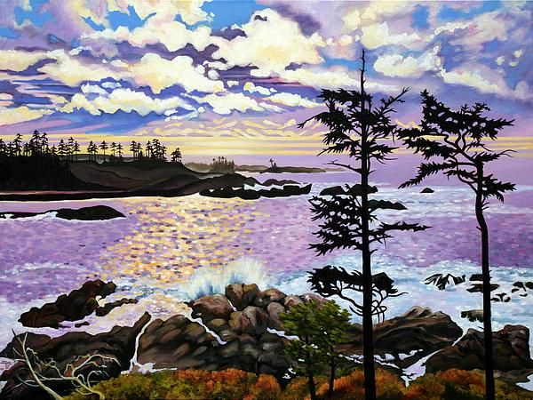another painting from our wonderful trip to Ucluelet