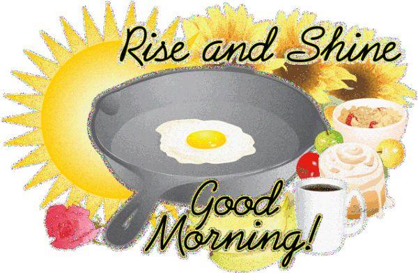 Rise & Shine Good Morning coffee breakfast eggs bacon good morning graphic rise & shine