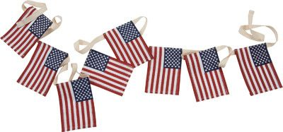 Small Flag Garland - Set Of 2