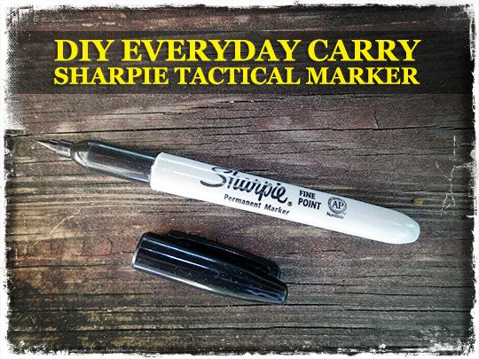 Really cool DIY everyday carry sharpie tactical marker - http://www.survivalistdaily.com/diy-everyday-carry-tactical-sharpie-marker/