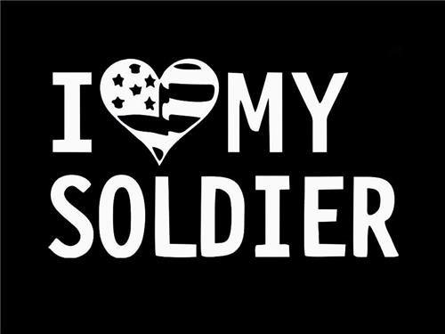 Love my soldier decal sticker