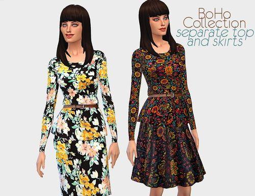 Sims 4 maxi dress bohemian