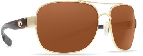 Costa Del Mar Sunglasses - Cocos- Plastic / Frame: Gold Lens: Polarized Copper 580P Polycarbonate