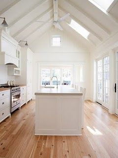 This passive solar kitchen shows the potential for bringing light into a space while maintaining temperature control. View more at: www.zeroenergy.com