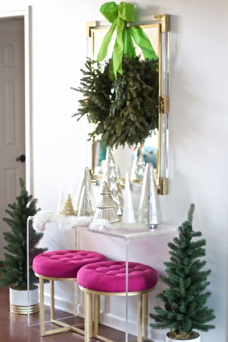 Home For The Holiday: How We Decked Our Halls. Bright Christmas DecorationsModern  ...