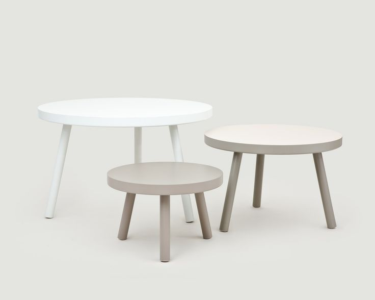 MORGEN STOOL  Design by Thomas Tritsch 2005  Material: multilayer plate with resistant coating in variations of color – ø 70,90,120/45,60,74H cm     The tripod stands for an uncomplicated lifestyle and is a kitchen- , couch- , side- or dining table. STOOL is suitable for every room and every situation. Available at www.morgen.org