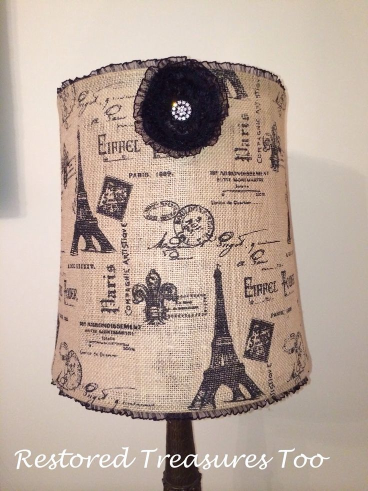 Making a burlap lamp shade