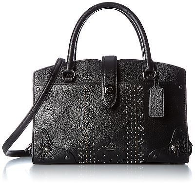COACH Women's Bandana Rivets Mercer 24 DK/Black Handbag