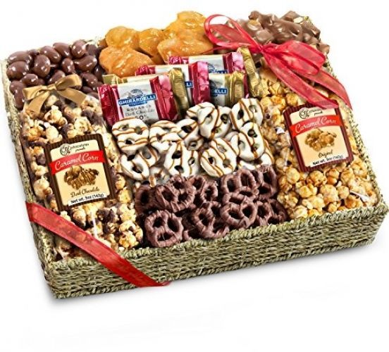 14 best holiday tenant gift ideas images on pinterest a stick golden state fruit chocolate caramel and crunch grand gift basket negle Gallery