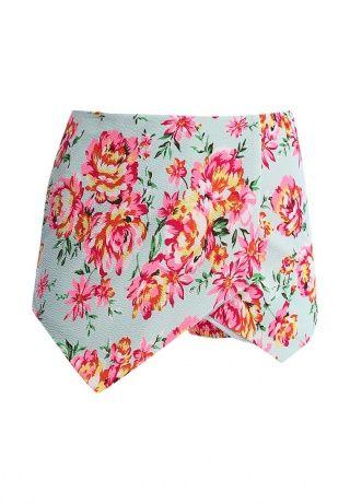 Яркие шорты New Look выполнены из эластичного трикотажа мятного цвета и оформлены розовым флористическим принтом. Детали: эластичная резинка на талии, модель с запа́хом. Для размера 44 обхват по бедрам 94 см, высота посадки 34 см. http://j.mp/1pPPSEU
