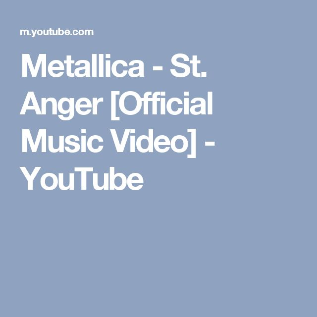Metallica - St. Anger [Official Music Video] - YouTube