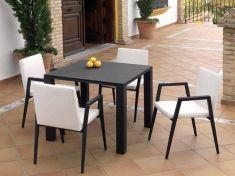 mesas de exterior de aluminio coleccin marbella