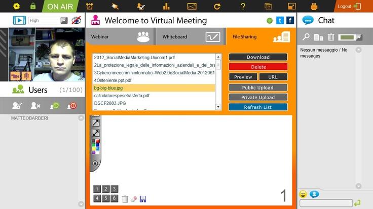 La funzione File Sharing per la condivisione di file in tempo reale