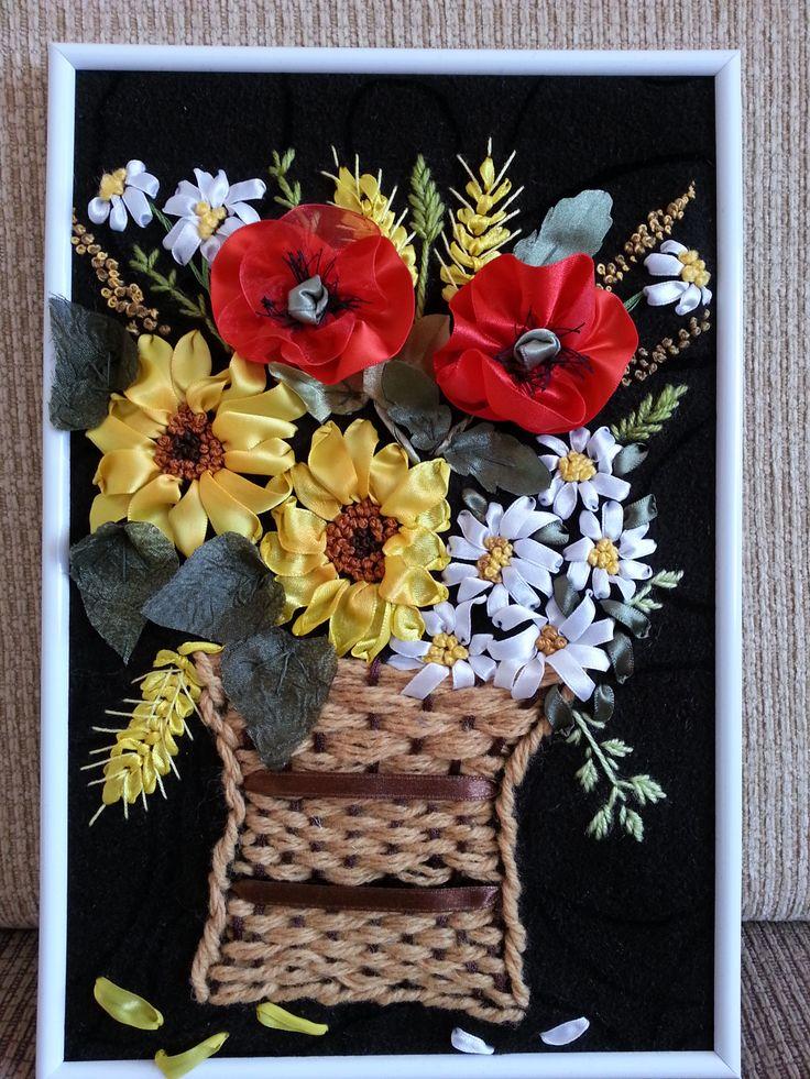 Koszyk z kwiatkami