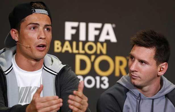 #DEPORTERS Intercambio de elogios entre Messi y Cristiano  JUTIAPA- Lionel Messi y Cristiano Ronaldo intercambiaron elogios en la rueda de prensa compartida de FIFA antes de la gala del 'Balón de Oro', en una competencia que aseguraron les ayuda a mejorar cada día.