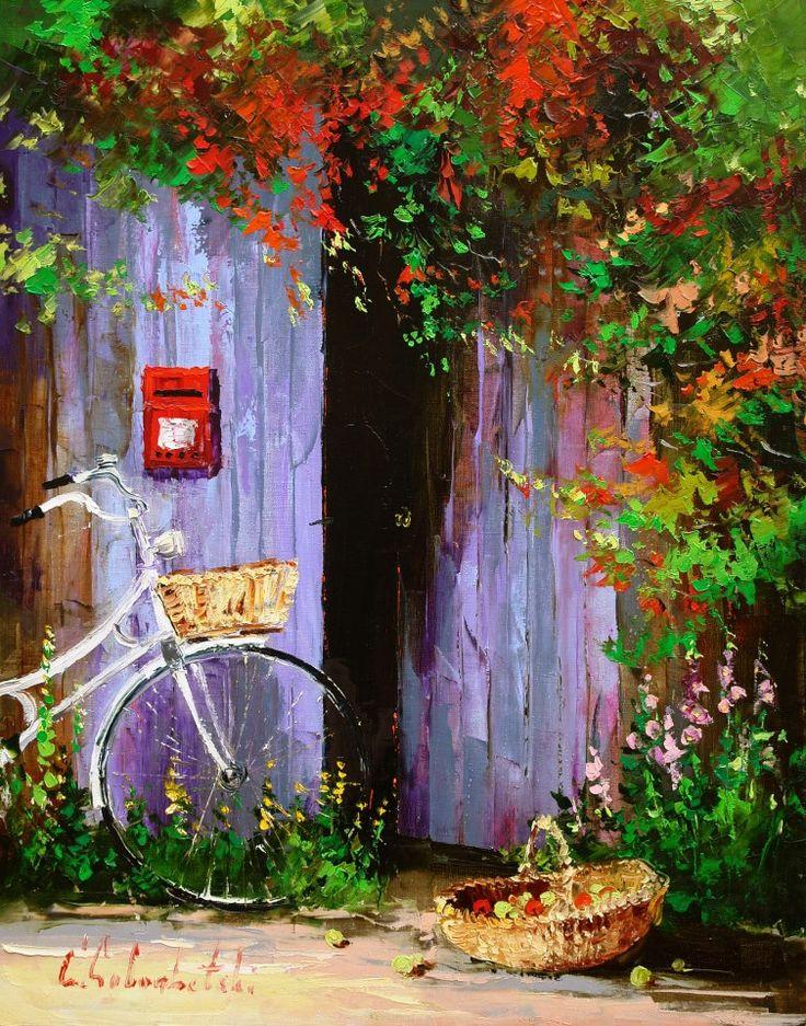 Russian artist Gleb Goloubetski | Autumn in Provence 80x65 2006