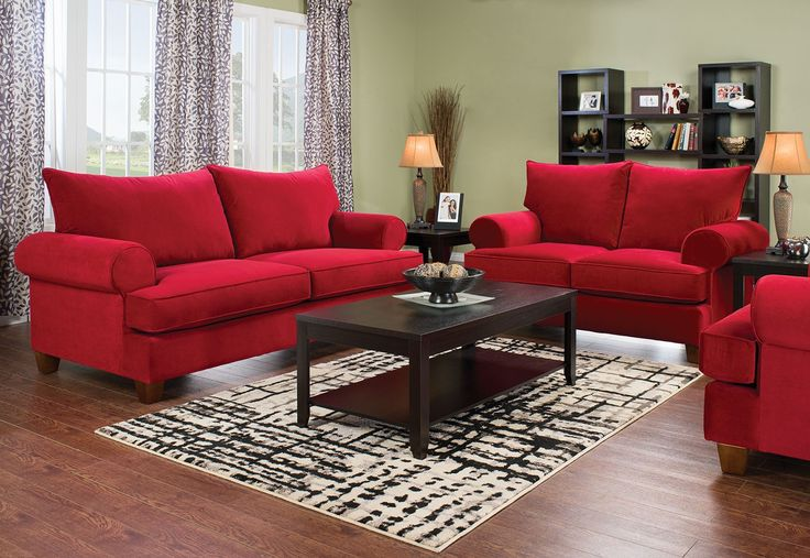Kick back and cozy up to the softness of this Paige sofa bed. Covered in lush red microsuede, you'll quickly relax into the deep seating. A resilient seat support system is the foundation for the foam and fibre cushion blend, giving you a long-lasting, comfortable family space. Plus, the thick cushions can be removed to reveal a full-size sofa bed, perfect for last minute guests and child sleepovers.