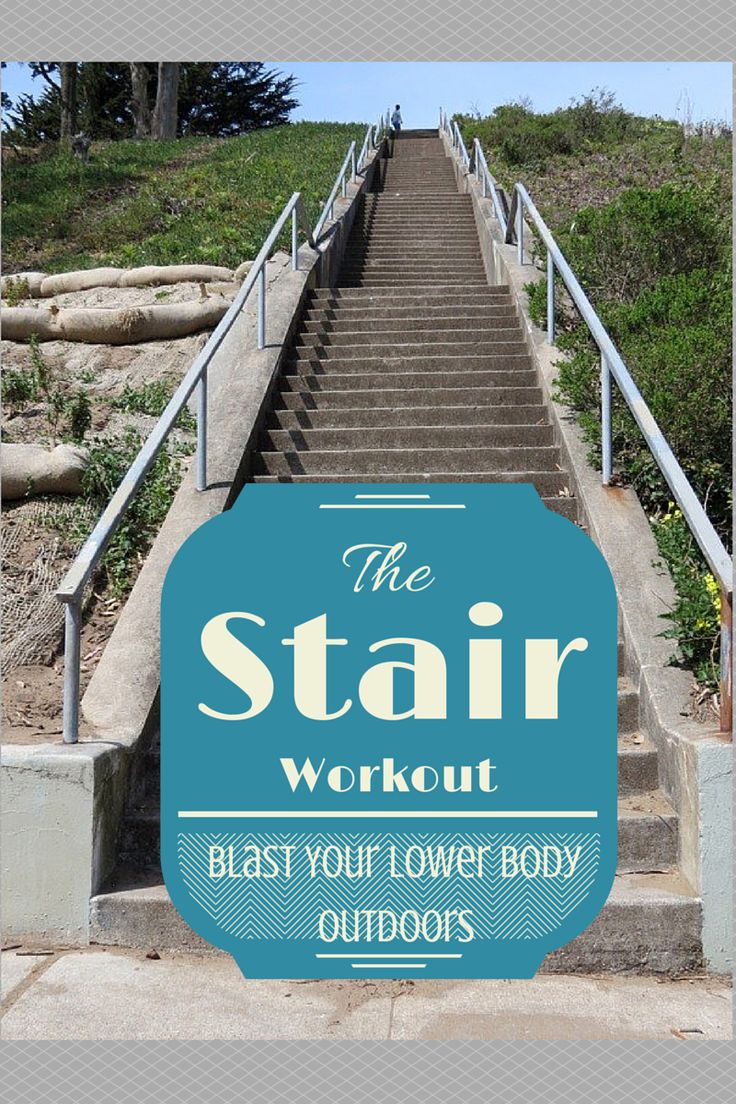 Blast your lower body with this outdoor stair workout.